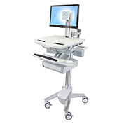 Ergotron® StyleView Cart with LCD Pivot, 1 Drawer