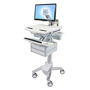 Ergotron® SV43-1240-0 StyleView® Medical Cart with LCD Arm, 4 Drawers