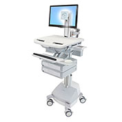 Ergotron® StyleView Cart with LCD Pivot, SLA Powered, 2 Drawers