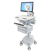 Ergotron® StyleView Cart with LCD Pivot, SLA Powered, 6 Drawers