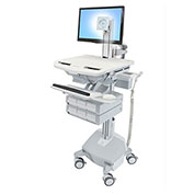 Ergotron® StyleView Cart with LCD Pivot, LiFe Powered, 6 Drawers