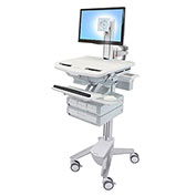 Ergotron® StyleView Cart with LCD Pivot, 4 Drawers