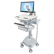 Ergotron® StyleView Cart with LCD Arm, LiFe Powered, 1 Drawer