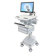Ergotron® StyleView Cart with LCD Arm, SLA Powered, 2 Drawers