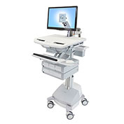 Ergotron® StyleView Cart with LCD Arm, SLA Powered, 4 Drawers