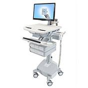 Ergotron® StyleView Cart with LCD Arm, LiFe Powered, 4 Drawers