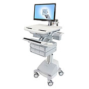 Ergotron® StyleView Cart with LCD Arm, SLA Powered, 6 Drawers