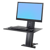 Ergotron® WorkFit-SR, 1 Monitor, Sit-Stand Desktop Workstation, Black