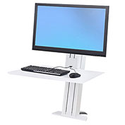 Ergotron® WorkFit-SR, Heavy Monitor, Sit-Stand Desktop Workstation, White