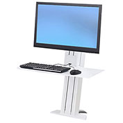 Ergotron® WorkFit-SR, Heavy Monitor, Sit-Stand Desktop Short Surface Workstation, White