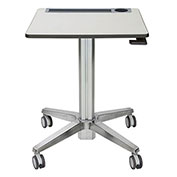 Ergotron® LearnFit® Mobile Sit-Stand Adjustable Desk, Silver