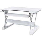Ergotron WorkFit-T, Sit-Stand Desktop Workstation, White