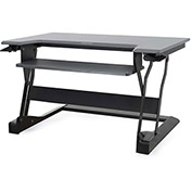 Ergotron WorkFit-T, Sit-Stand Desktop Workstation, Black