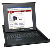 "1U Rackmount KVM Console with 17"" Monitor / Touchpad / Keybord"