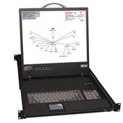 "16-Port Cat5 IP KVM Switch 19"" Console Rackmount 1U"