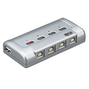 Notebook/Laptop 4-Port USB Printer Sharing Switch