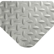 "Wearwell 414 Diamond Plate Diamond Plate Ergonomic Mat 48"" X 75' X 15/16"" Gray/None"