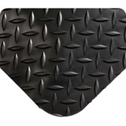"Wearwell 415 Diamond Plate Diamond Plate Ergonomic Mat 24"" X 75' X 9/16"" Black"