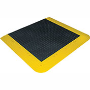 Wearwell ErgoDeck No-Slip Solid Kit, 7/8in Thick, 84 x 42, Black