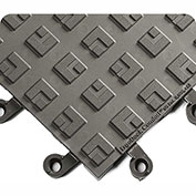 Wearwell ErgoDeck Comfort Kit, 7/8in Thick, 48 x 42, Charcoal