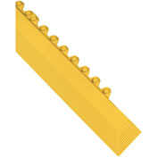 "Wearwell 572 24/Seven Anti-Fatigue Matting Edging Male Nitrile Rubber 3""X39"" Yellow"