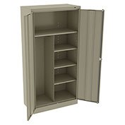 "Tennsco Standard Combination Cabinet 1482 214 - Unassembled 36""W X 24""D X 72""H, Sand"