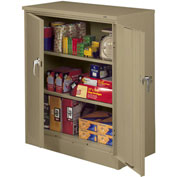 "Tennsco Deluxe Counter Height Storage Cabinet 4218DLX 02 - Welded 36""W x 18""D x 42""H Medium Gray"