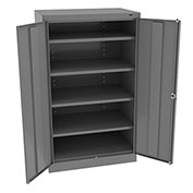 "Tennsco Standard Storage Cabinet 6024 02  - Welded 36""W X 24""D X 60""H, Medium Grey"