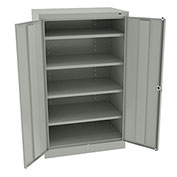 "Tennsco Standard Storage Cabinet 6024 053  - Welded 36""W X 24""D X 60""H, Light Grey"