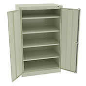 "Tennsco Standard Storage Cabinet 6024 216  - Welded 36""W X 24""D X 60""H, Champagne Putty"