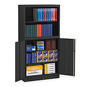 "Tennsco Bookcase Storage Cabinet BCD18-72 03 - Welded 36""W x 18""D x 72""H Black"