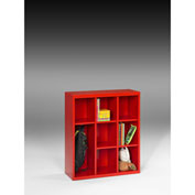 "Tennsco Cubby Cabinet CC-40 18 - Welded 34-1/2""W x 13-1/2""D x 40""H Bright Red"