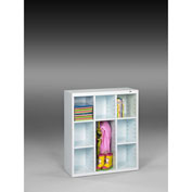 "Tennsco Cubby Cabinet CC-40 61 - Welded 34-1/2""W x 13-1/2""D x 40""H Arctic White"
