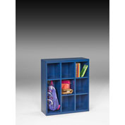 "Tennsco Cubby Cabinet CC-40 879 - Welded 34-1/2""W x 13-1/2""D x 40""H Regal Blue"
