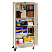 "Tennsco Mobile Deluxe Storage Cabinet CK2470 214 - Unassembled 36""W X 24""D X 78-3/4"" H, Sand"