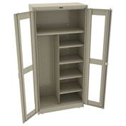 "Tennsco C-Thru Deluxe Combination Cabinet CVD1872 214 - Unassembled 36""W X 18""D X 78""H, Sand"