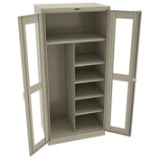 "Tennsco C-Thru Deluxe Combination Cabinet CVD2472 214 - Unassembled 36""W X 24""D X 78""H, Sand"