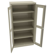 "Tennsco C-Thru Standard Storage Cabinet CVD7218 214 - Welded 36""W X 18""D X 72""H, Sand"