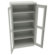 "Tennsco C-Thru Standard Storage Cabinet CVD7224 053 - Welded 36""W X 24""D X 72""H, Light Grey"