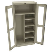 "Tennsco C-Thru Deluxe Combination Cabinet CVD7814 214 - Welded 36""W X 18""D X 78""H, Sand"