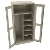 "Tennsco C-Thru Deluxe Combination Cabinet CVD7820 214 - Welded 36""W X 24""D X 78""H, Sand"