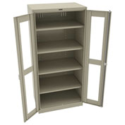 "Tennsco C-Thru Deluxe Storage Cabinet CVD7824 214 - Welded 36""W X 24""D X 78""H, Sand"
