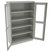 "Tennsco C-Thru Jumbo Storage Cabinet CVDJ1878SU 053 - Welded 48""W X 18""D X 78""H, Light Grey"