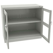 "Tennsco C-Thru Jmbo Counter Height Cabinet CVDJ2442SU 053 -  Welded 48""W X 24""D X 42""H, Light Grey"