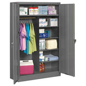 "Tennsco Welded Jumbo Combination Cabinet 48""W x 24""D x 78""H Medium Grey"