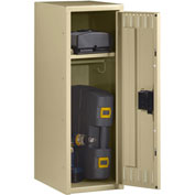 "Tennsco Single Tier Half Height Locker STS-121836-1 214 - w/Legs 1 Wide Sand 12""x18""x36"" Welded"