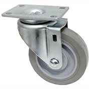 "Fairbanks Regular Duty Swivel Caster 21-3-TPR - Thermoplastic Rubber 3"" Dia. - 150 Lb. Capacity"