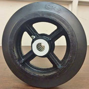 "Fairbanks High Capacity Rubber Mold-on Wheel 907-RB - 7"" Dia. x 1-5/8""W - 760 Lb. Capacity"