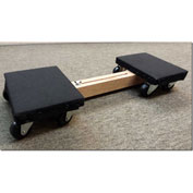 """Fairbanks Adjustable Twin Skate Dolly AD-8524-022H - 24"""" to 32"""" - 700 Lb. Capacity"""