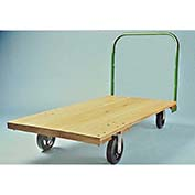 "Fairbanks Platform Truck B-25-Q-2754-RT-407-27 - Oak 27"" x 54"" - 5"" Rubber Wheels - 1400 Lb. Cap."